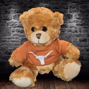 "Pennington Collegiate Collectibles University of Texas Teddy Bear Plush 8"""